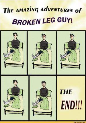 funny broken leg cartoon 5414