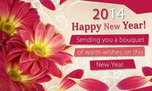 Happy new year wishes with flowers quotes and you can send these new ...