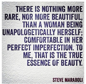 Being comfortable with who you are