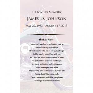 Motorcycle Poem Urn