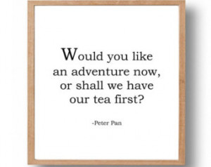 ... Room, Black & White, Kids Art and Wall Decor, Tea Quote, Tea Party