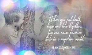 Love hope faith trust quotes