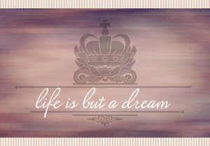 Love After Divorce - A Fairytale: Life is but a dream picture quote