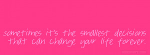 Pink Life Quote {Life Quotes Facebook Timeline Cover Picture, Life ...