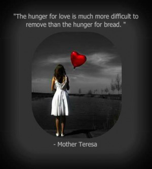 Lovely Quote on Love by Mother Teresa with Image !!
