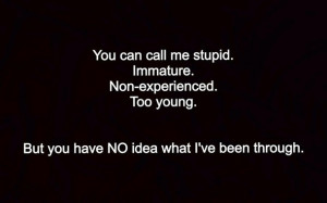 Young Immature Quotes Credited