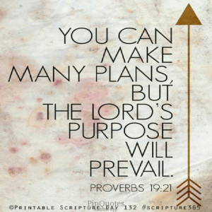 My plans-God's purpose