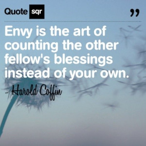 Envy Quotes And Sayings