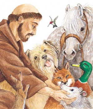 saint francis of assisi is an inspiration to the love of all animals ...