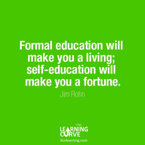 So never stop learning!