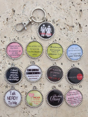 BLACK FRIDAY SALE Funny Sayings Keychain by MichelleriesBoutique, $5 ...