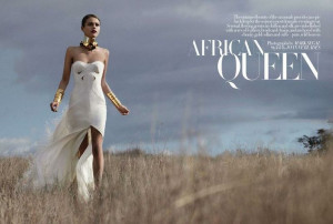 love that dress. African Queen (Harper's Bazaar UK)