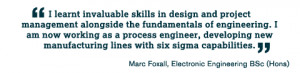 ... engineering. I am now working as a process engineer, developing new