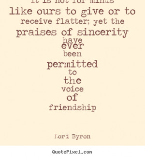 Lord Byron Friendship Quote Posters