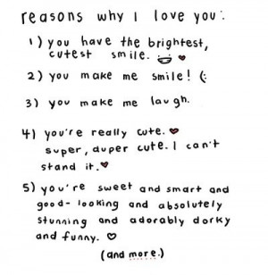 lists, love, love letters, quote, quotes, reason, reasons why i love ...