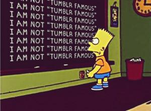 bart simpson, chalkboard, simpsons, the simpsons, tumblr famous