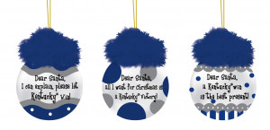 Kentucky Wildcats Team Sayings Tree Ornaments
