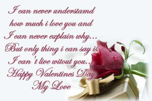 Happy Sayings On Love Days I Can Never Understand How Much I Love You ...