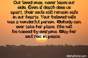 Sympathy Quotes For Loss Of Husband Even if death does us apart,