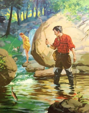 poster - fly fishing- the one that got away: Vintage Posters, Fish ...