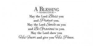 Numbers 6 24 26 Wall Quote May the Lord Bless You by KeyReflection, $ ...