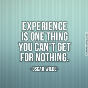 Oscar Wilde Experience Wisdom Quote Picture