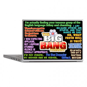 Sheldon Cooper Quotes Laptop Skins