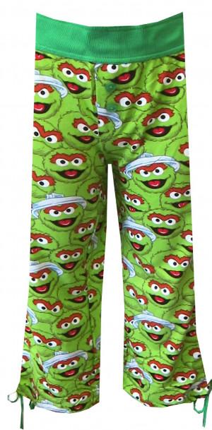 ... & Muppets > Sesame Street Oscar the Grouch Scram Capri Lounge Pants
