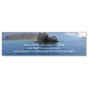 Inspirational Grieving Quote for Healing Bumper Stickers