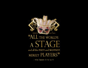 Shakespeare As You Like It Stage Quote