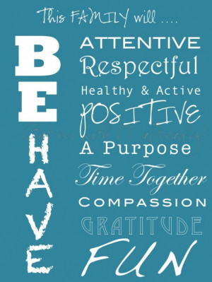 great family mission statement from Stacey-Lee @ get on with It ...