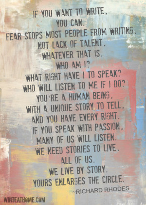 if you want to write you can fear stops most people from writing not ...