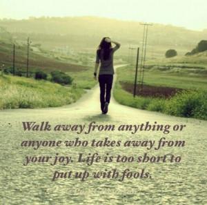 Just walk away ♡