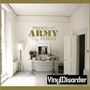 Proud army family Patriotic Vinyl Wall Decal Sticker Mural Quotes ...