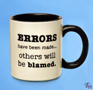 Russ Berrie Mind Your Own Business Errors Mug