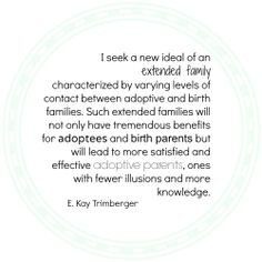 seek a new ideal of an extended family characterized by varying ...