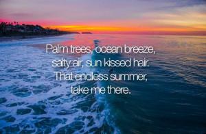 Summer Beach Quote Ocean Breeze Quote