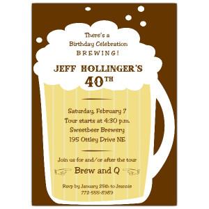 Birthday Beer Quotes Beer mug birthday invitations