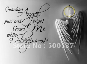 Free Shipping sleep ANGEL GUARDIAN Baby Room Wall Quote Wall Saying ...