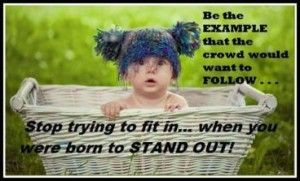 Stop trying to fit in, when you're born to STAND OUT