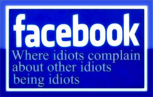 People complaining on facebook about other people quote