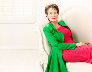 Celia Imrie star of The Second Best Marigold Hotel photographed by