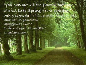 Quote 0060: Spring: Pablo Neruda
