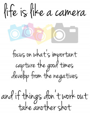 Quote: Life Is Like A Camera