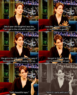 Tina Fey on her daughter being gentle