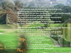 Green green grass of home....