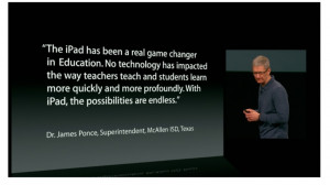 The iPad has been a real game changer in education. No technology has ...