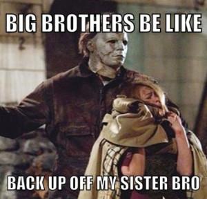 Big brothers be like .. Haha!!
