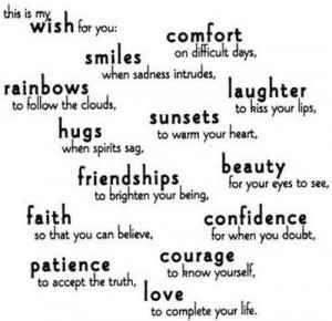 friends, happy, love, quotes, smile, wish