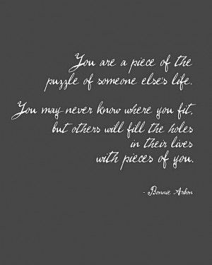 Pieces of you...